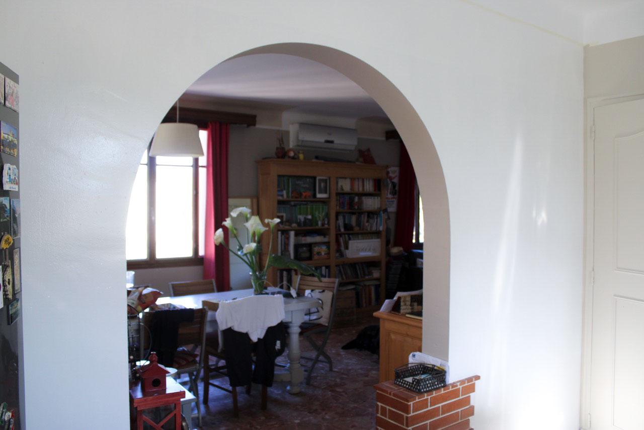 bonnet peinture décoration - photo chantier avant - arche