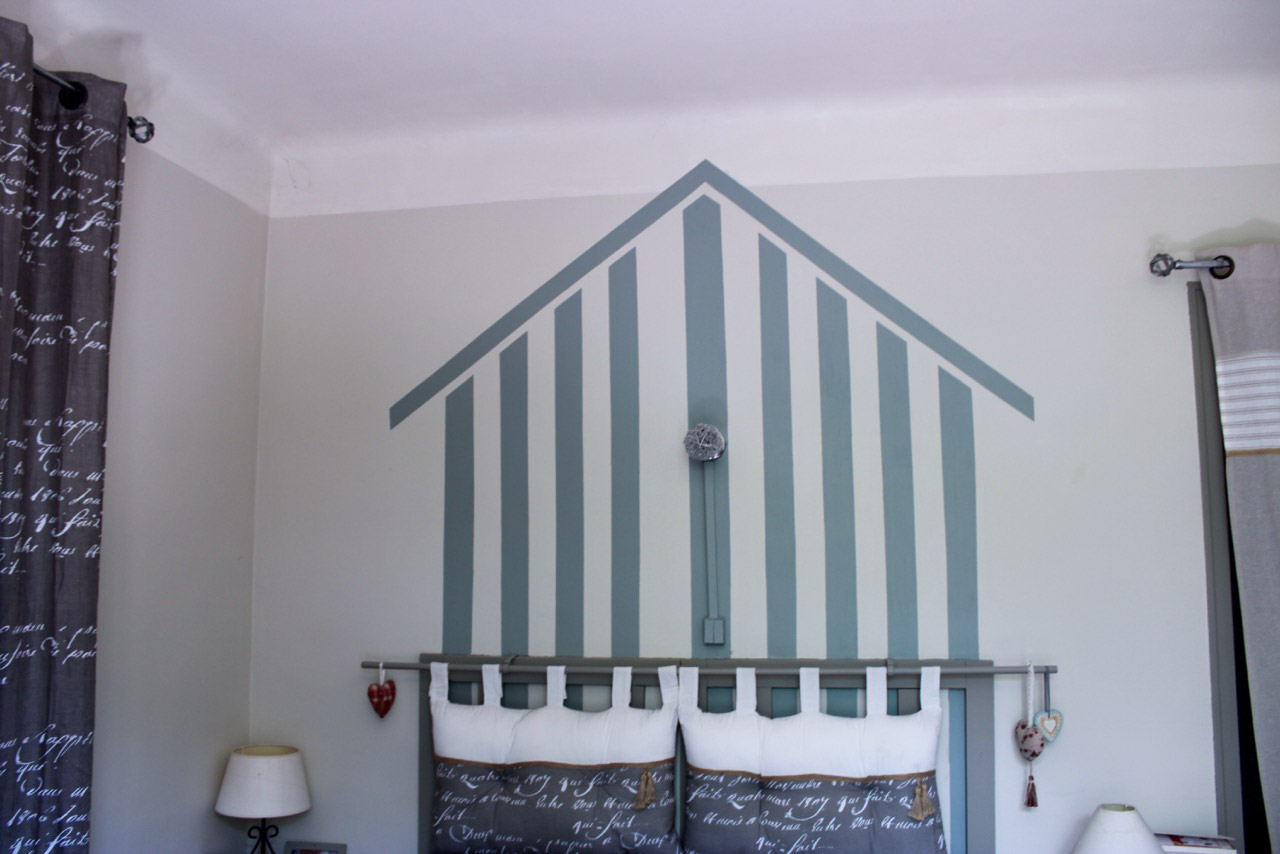 bonnet peinture décoration - photo chantier apres - mur chambre