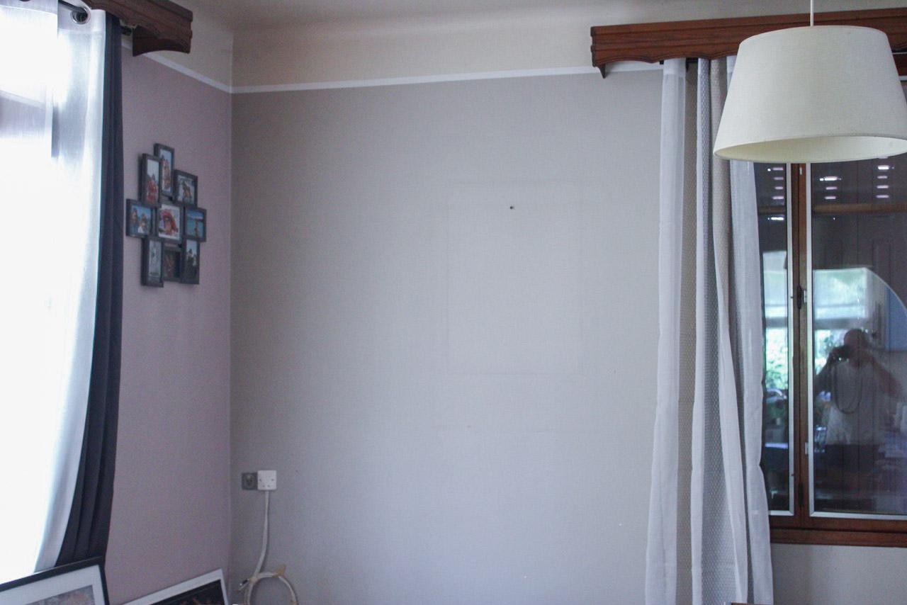 bonnet peinture décoration - photo chantier avant - mur chambre